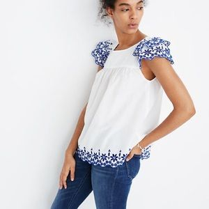 Madewell Embroidered Story Top 00